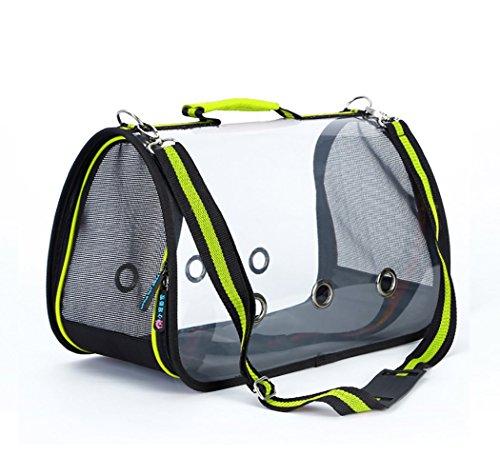 APET Transparent Haustier Tasche Aus Rucksack Hund Schultertasche Kätzchen Welpen S Lang 35 Breit 21 Hoch 19cm