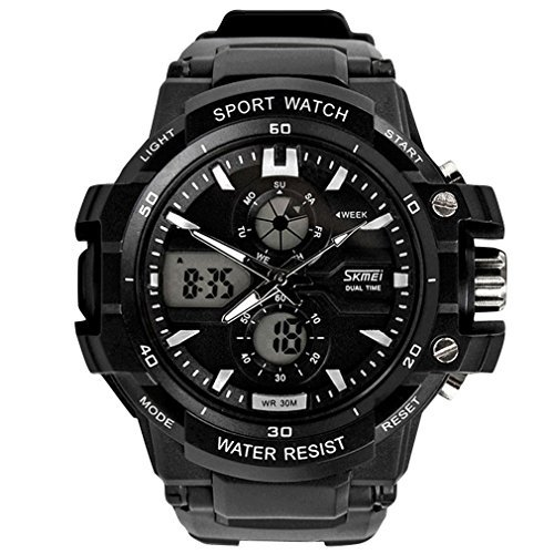panegy Wasserdicht elektronische Outdoor Sport Travel Luminous Armbanduhr Alarm Digital Analog Stoppuhr