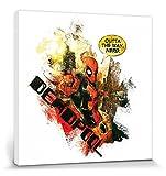 1art1 95431 Deadpool - Nerd Poster Leinwandbild Auf Keilrahmen 40 x 40 cm