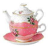 Royal Albert - Set di tazza e teiera integrate monoporzione, stile Vintage, multicolore