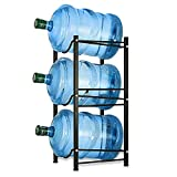 Wasserkühler Krug Rack 5 Gallon Wasserflaschenhalter Lagerregal 3 Etagen Heavy Duty stapelbar Wasserschrank Spender Organizer für Home Office, Schwarz