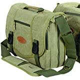 Kalahari Kapako K-35 - Bolsa bandolera para cámaras réflex (con compartimentos para accesorios), verde