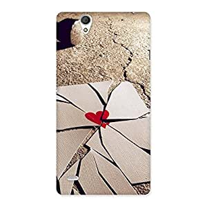 Impressive Broken Heart Ace Print Back Case Cover for Sony Xperia C4
