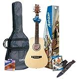 Ashton Spjoeycoustic - Set chitarra per principianti, colore: Nero