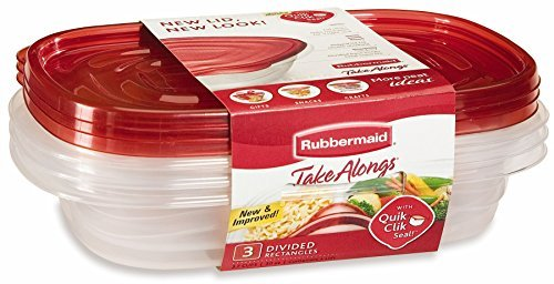 3-Piece Rectangle Food Storage Container by Rubbermaid (Food Rubbermaid Container)