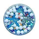 Slime Transparent Pas Cher Avec Fruit Bleu Perle Paillette Rose De Base Pour Slime Colle Transparente Slime En Solution Liquide (Blue)