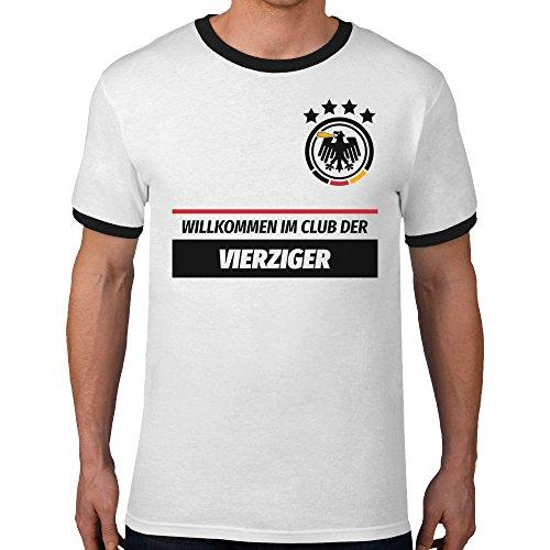40 Geburtstag Geschenk - Willkommen im Club der 40er Deutschland Trikot T- Shirt Grün ...