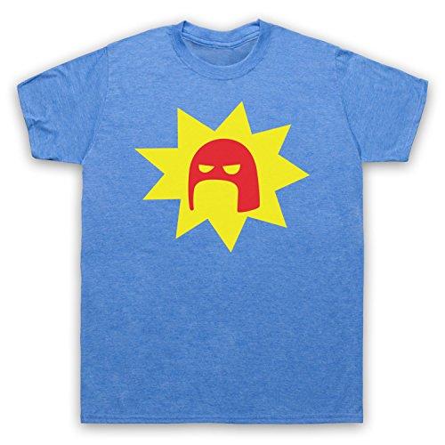 Inspiriert durch Super Crimson Bolt Logo Unofficial Herren T-Shirt Jahrgang Blau