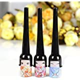 CCbeauty 3pcs Kawayi Girl Liquid Eyeliner Pen for Make up Cosmetic Waterproof Eyeliner