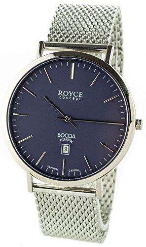 Boccia Herren Digital Quarz Uhr mit Edelstahl Armband 3589-13