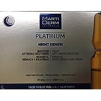 Martiderm Platinum Night Renew, Booster Antiedad Nocturno, 30 ampollas x 2 ml