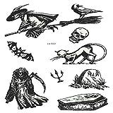 adgkitb 3pcs Halloween leuchtende temporäre Tätowierung Grabstein gefälschte Tätowierung Hexe...