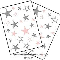Wandtattoo Wandschnörkel®40/ 80 Sterne Aufkleber selbstklebend Dekoration Größe 3,5 cm -15cm Grau Pastellosa Möbel Spiegel Fenster Fliesen