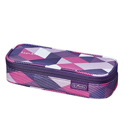 Herlitz 11437738 Soft Case be.bag cube, Purple Checked
