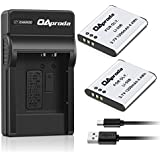 OAproda LI-50B Rechargeable Battery (2 Pack ) And Micro USB Charger For Olympus Stylus1010, 1020, 1030, 9000, 9010, SP-720UZiHS, SP-800UZ, SP-810UZ, SZ-10, SZ-11, SZ-15, VR-340, TG-610( More Slim , Less Weight )