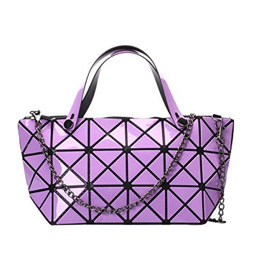 Damenmode Geometrische Schultertasche Handtasche Purple