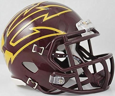 ARIZONA STATE SUN DEVILS NCAA Riddell Revolution SPEED Mini Football Helmet ASU (LARGE PITCHFORK/MAROON) by OnField