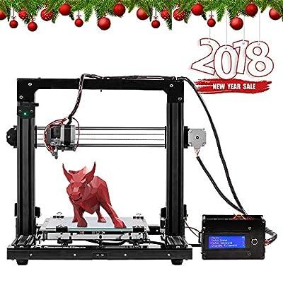 Pxmalion Corei3 DIY 3D Drucker Kit Acrylic Selbstbauen 3D Printer Kit mit Auto Nivellierung, Beheizte Bett, Filament-Erkennung und Improved Prusa I3, mit 40g Weiß PLA Filament