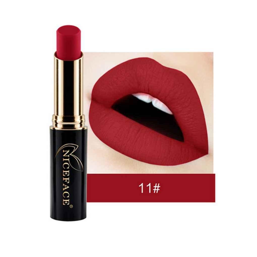 Lorjoy 24 Colores NICEFACE Barra de Labios Mate Brillo de Labios a Prueba de Agua Larga duración de Labios Lápiz Labial…