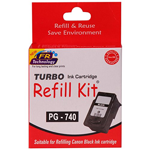 Turbo Refill Kit for Canon PG 740 Black Ink Cartridge  available at amazon for Rs.294