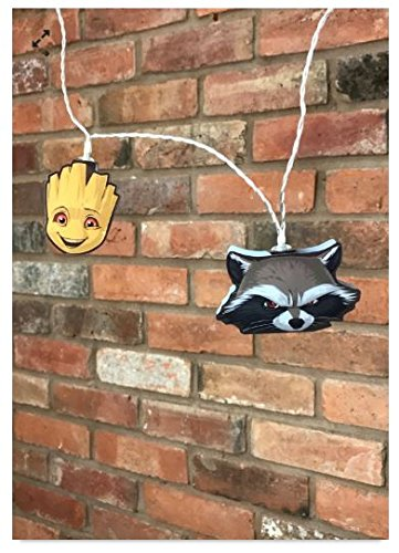 Guardians of the Galaxy Rocket Raccoon & Groot Mixed 2D String Lights -