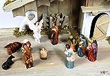 Krippenfiguren / BTV Krippe KOMPLETTSET mit Jesuskind, Figuren für Weihnachtskrippen BTV mit weißer Engel 7 cm Maria Josef 3 Weise 6 cm Jesus Engel Flötenspieler o. Hirte Schaf Ochse Esel Krippenzubehör Krippen Krippe Krippenfigur Figur KF67