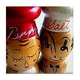 CafePress–Vintage Salz-& amp; Pfefferstreuer–Tile Untersetzer, Drink Untersetzer, Untersetzer, Klein
