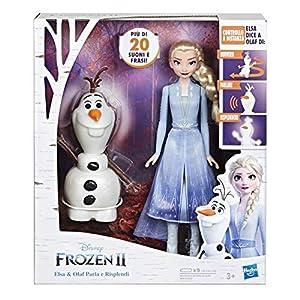 Hasbro Disney Frozen-E5508103 Elsa - Mando a Distancia Olaf para Hacer Hablar y Bailar (Italiano), Multicolor, E5508103