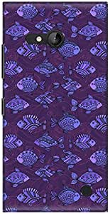 The Racoon Lean printed designer hard back mobile phone case cover for Nokia Lumia 730. (Purple Fis)