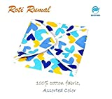 #2: Snowpearl Roti/Chapati Covers , Traditional Roti Rumals - 100% Pure Cotton Cover, Assorted Color & Design (Set of 4, Square)