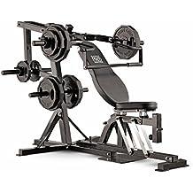 Marcy Pro PM4400 - Banco (cinta pectoral, 90 kg, banco de ejercicio,