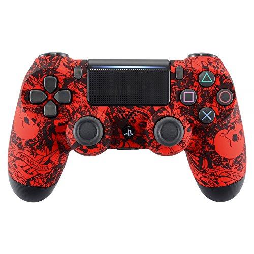 eXtremeRate PS4 Controller Vorderseites Case Hülle Schutzhülle Cover Oberschale Gehäuse Skin Schale für Playstation 4 PS4 Slim PS4 Pro Controller JDM-040 JDM-050 JDM-055(Rot) - 4 Playstation Gehäuse