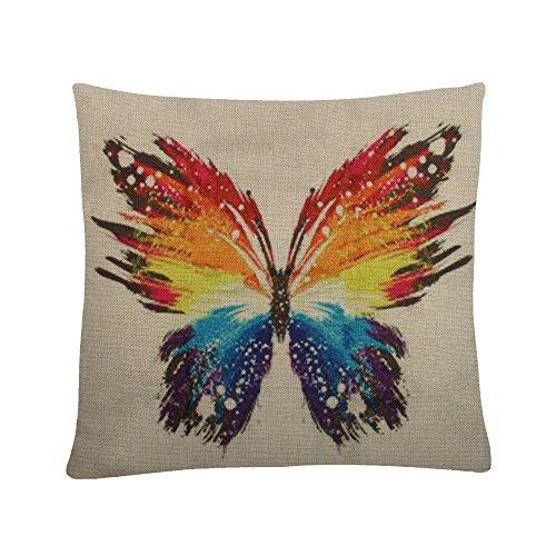 MAYUAN520 Coussins Housse De Coussin Motif Papillons Multicolore Fashion 45 * 45Cm Taie Décoration Maison Fauteuil-Lit Taies.