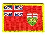Flaggen Aufnäher Patch Kanada - Ontario Fahne Flagge