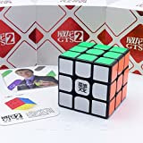 MoYu *Weilong GTS v2* - 3x3 Professional & Competition Speed Cube Rubik's cube Brain Game 3D Puzzle - BLACK immagine