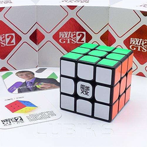 MoYu *Weilong GTS 2* - 3x3 Professionnel & Compétition Cube de Vitesse Speed Cube Rubik's Cube Puzzle 3D - Noir / BLACK