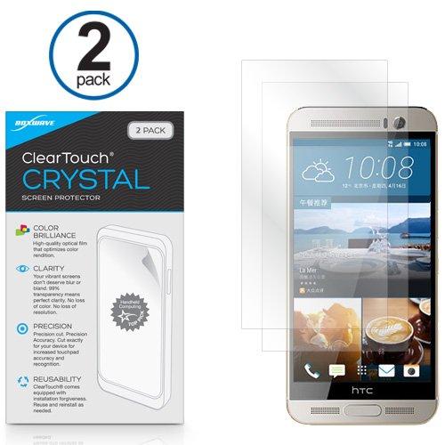 BoxWave HTC One (M9) Plus ClearTouch Crystal Bildschirmschutzfolie-PREMIUM QUALITÄT, Ultra Crystal Clear Folie Haut zu Shield vor Kratzern (inklusive fusselfreiem Reinigungstuch & Applikator)-HTC One (M9) Plus Display Wachen & Abdeckungen
