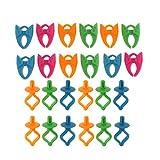 MagiDeal 24 Stücke Farbige Silikon Bobbin Holders Clips Clamps Farbspulenhalter Klammern