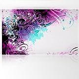LANA KK Fototapete Poster Tapete - edler Kunstdruck auf Vliestapete in Stuck Optik, 300 x 180 cm, Jungle Drum Pink Blau Silber