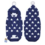 Yunt Pull Sweater a Capuche Chaud Impression Etoiles pour Chien Chihuahua Costume Noel pour Chien/Chat (Bleu, M)