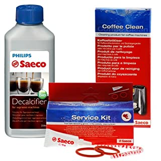 Reinigungs / Pflege - Set von Saeco für Kaffeevollautomaten, Kaffeeautomaten( komplett, 1 Flaschen Saeco )