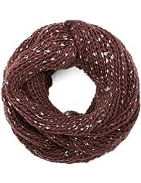 style3 Winterschal Loop Schal mit Schnee-Effekt für Damen in verschiedenen Farben