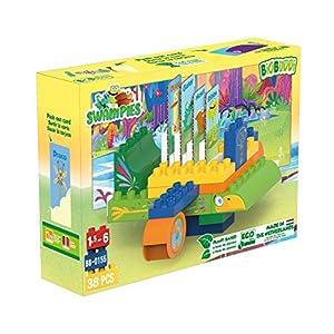 BIOBUDDI Swampies BB-0155 Juguete de construcción - Juguetes de construcción (Juego de construcción, Multicolor, 1,5 año(s), 38 Pieza(s), Niño/niña, Niños)
