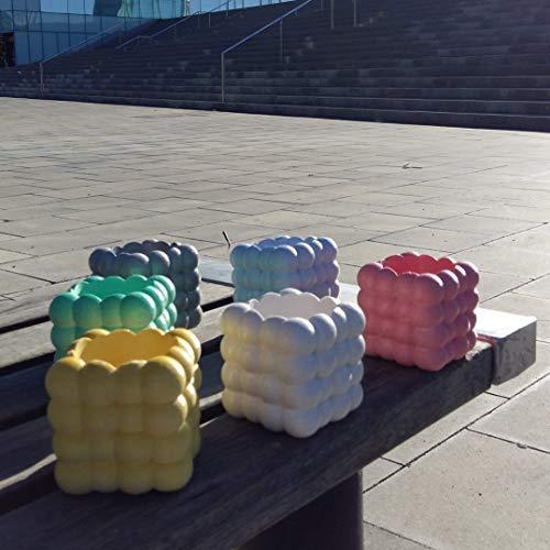 Kubische Wolke Blumentopf - Vase - Schale - Keramikharz mit personalisierten Farben - exklusives Design mit Wolkenform