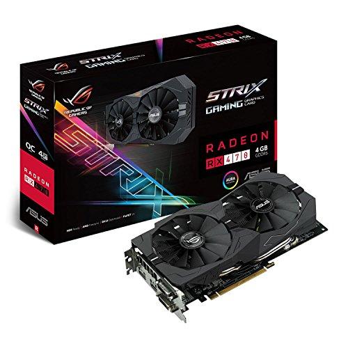 Asus STRIX-RX470-O4G-GAMING - Tarjeta gráfica (Strix, 4 GB, AMD Radeo
