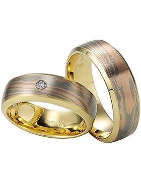 CORE by Schumann Design Trauringe Eheringe aus 585 G/W/R Gold Tricolor mit echten Diamanten Gratis Testringservice...
