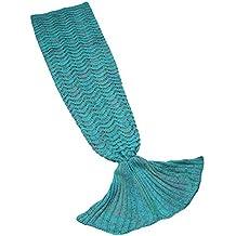 Manta sirena de Super suave Saco de dormir sofá y cálida manta colcha de sirena para
