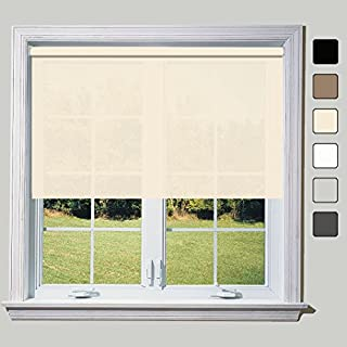 Natural Classic (Non B/O) Roller Blind - Metal Tube & Metal Brackets 2ft 3ft 4ft 5ft 6ft 7ft 8ft (8ft (240cm))