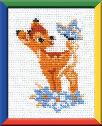 Riolis 210 Kreuzstich-Set 'Bambi', Baumwolle, Mehrfarbig, 13.0 x 16.0 x 0,1 cm