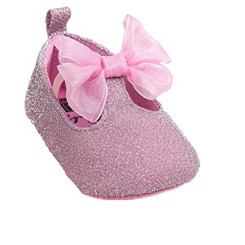 Zapatos de bebé,Auxma Zapatillas Bowknot Niña,Zapatos no deslizantes Blandos para 0-18 Meses 11 0-6...